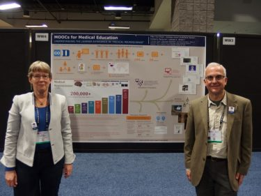 prof. white and ellen at the poster #SfN2017
