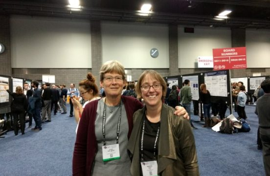 prof. groh and ellen at sfn2017