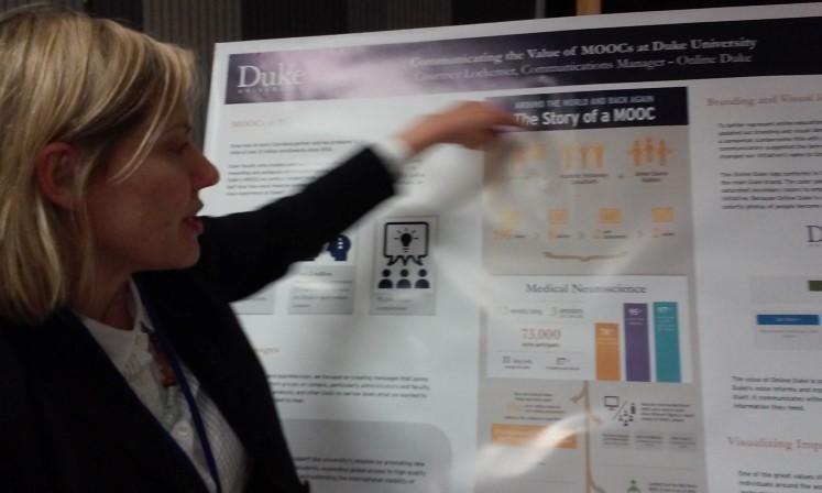 courtney lockemer presenting a poster on medical neuroscience
