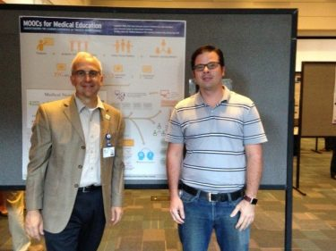 prof. len white and Nicholas Janes at the poster session