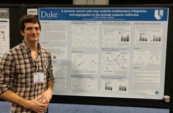 jeff at a strong poster presentation, SfN2017